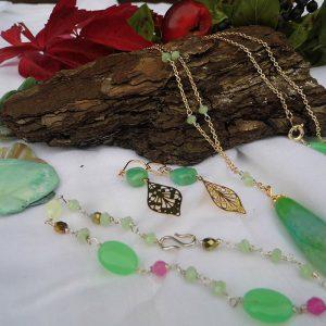 Smykkesæt-–-halskæde,-armbånd,-øreringe-mint-grønt