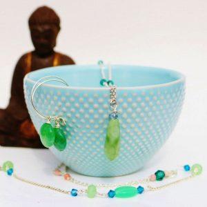 Smykkesæt grøn sten ENERGI