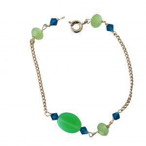 Armbånd med grøn jade
