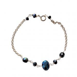 Armbånd med blå perler