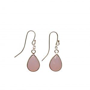 Øreringe med rosa krystal