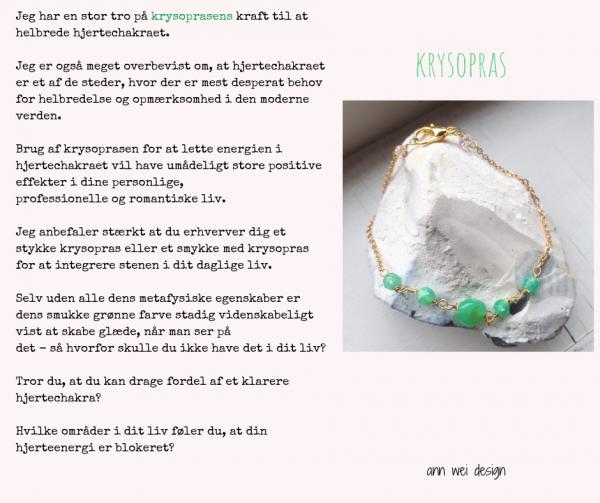 SEPTEMBER : Bliv opfyldt af glæde med krysopras - krystal plan 2019