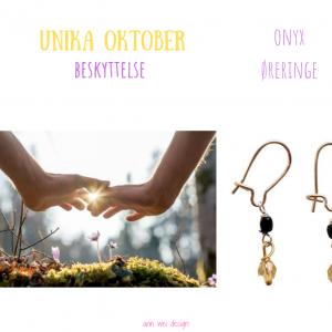 Unika øreringe med onyx