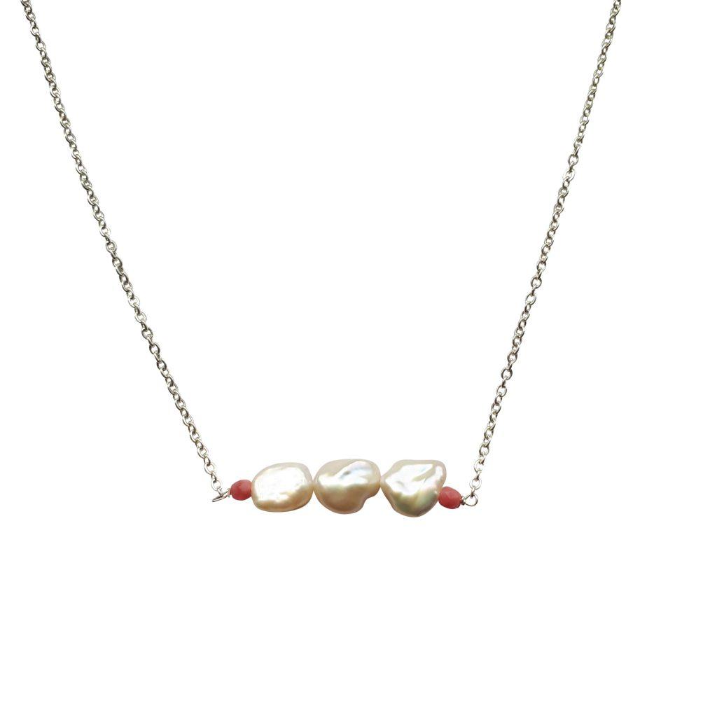 Halskæde keshi perler