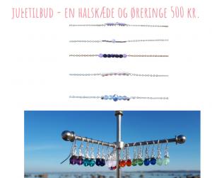 AURA halskæde og swarovski krystal øreringe JULETILBUD