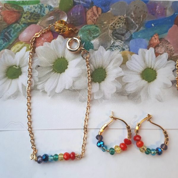 Chakra halskæde med 7 farver