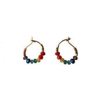 Chakra øreringe med 7 farver