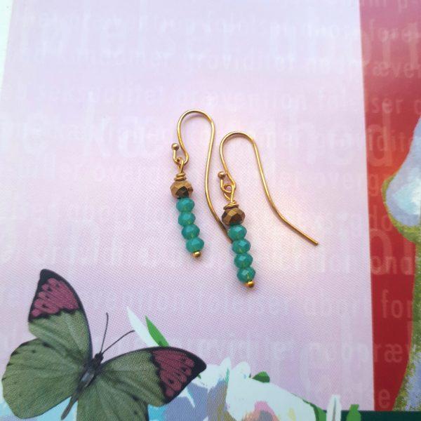 UNIKA øreringe med grøn jade