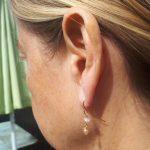 Boheme øreringe med ferskvandsperle