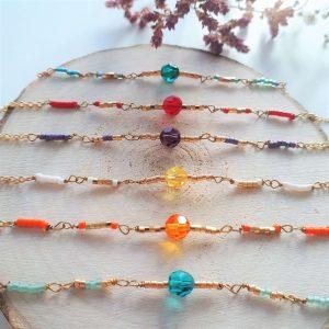 Farverige Sigøjner armbånd i swarovski krystal